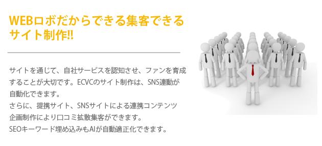 webロボットだからできる高度ホームページ制作