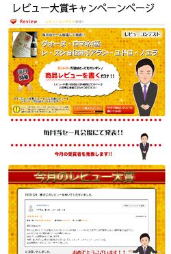 レビュー大賞キャンペーンページ イメージ